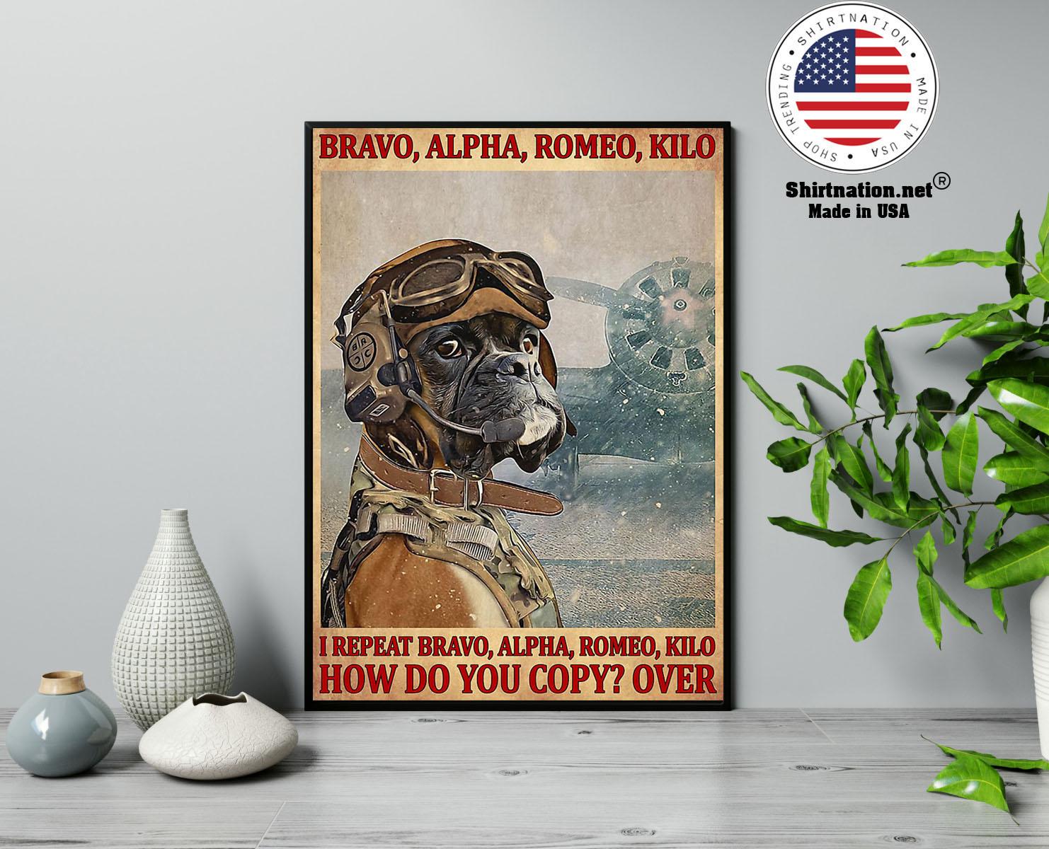 Bravo alpha romeo kilo I repeat bravo alpha romeo kilo how do you copy over poster 13