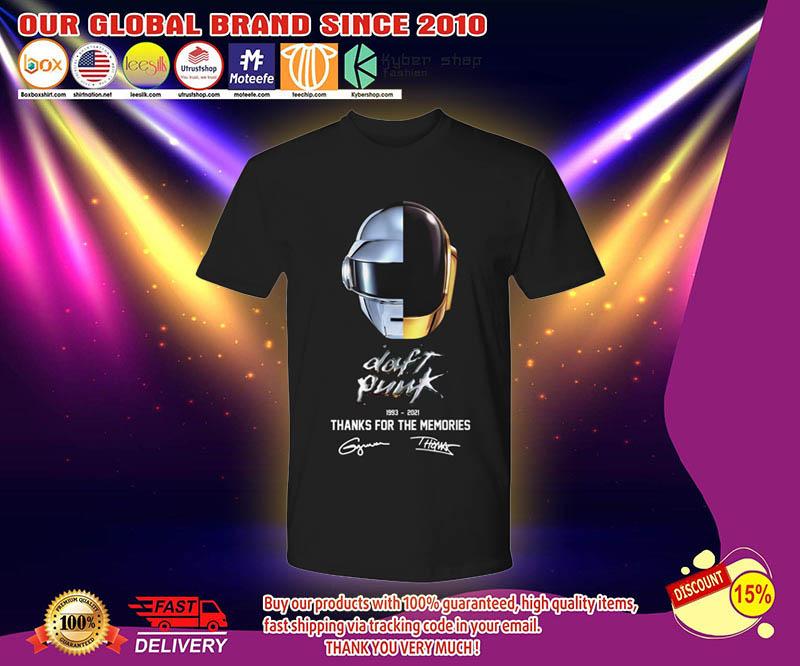 Daft punk thanks for the memories 1993 2021 shirt 2