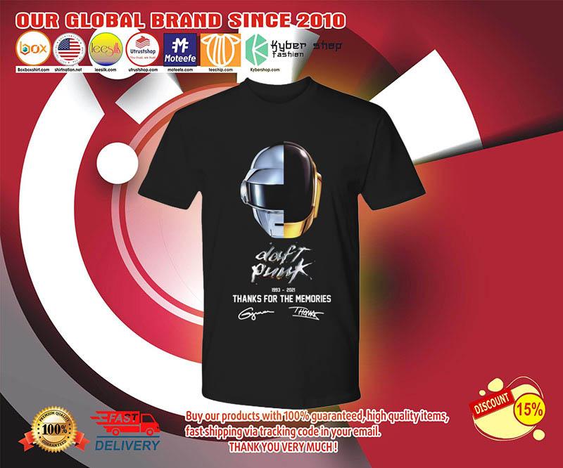 Daft punk thanks for the memories 1993 2021 shirt 3
