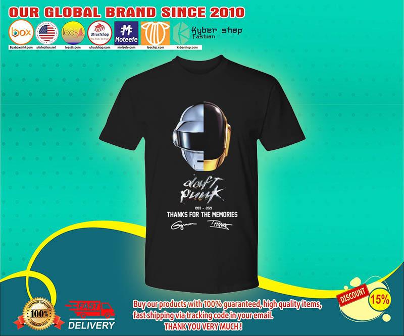 Daft punk thanks for the memories 1993 2021 shirt 4