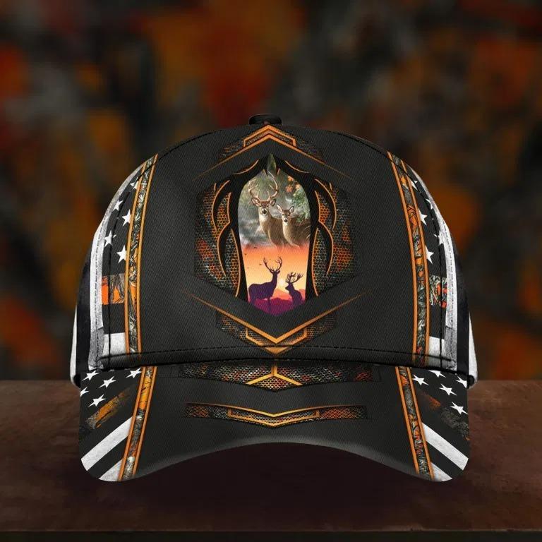 Deer hunter camo custom name cap 3 2