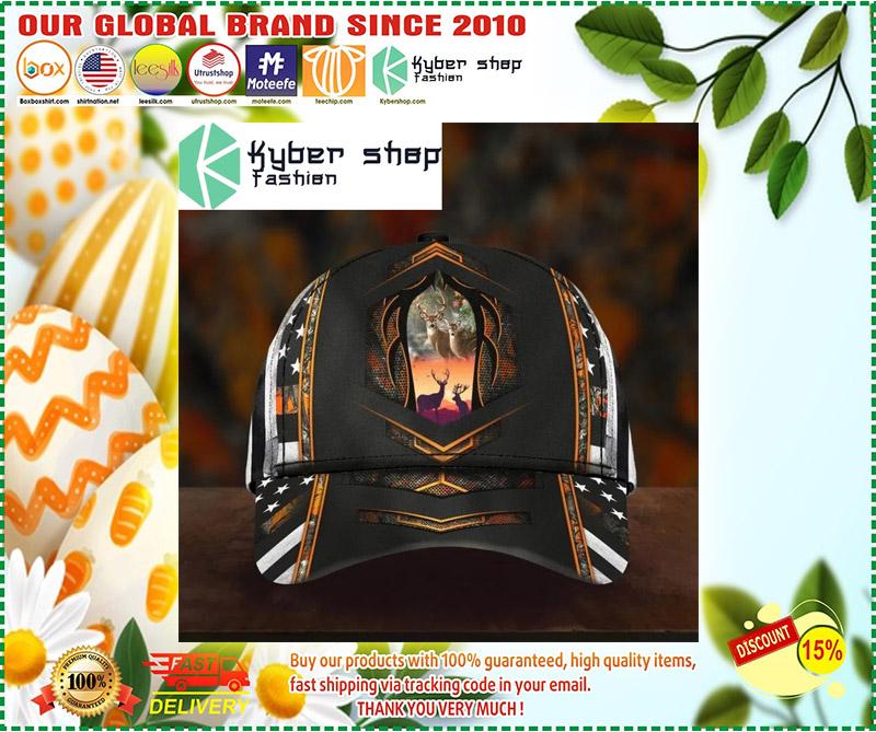 Deer hunter camo custom name cap 3 4