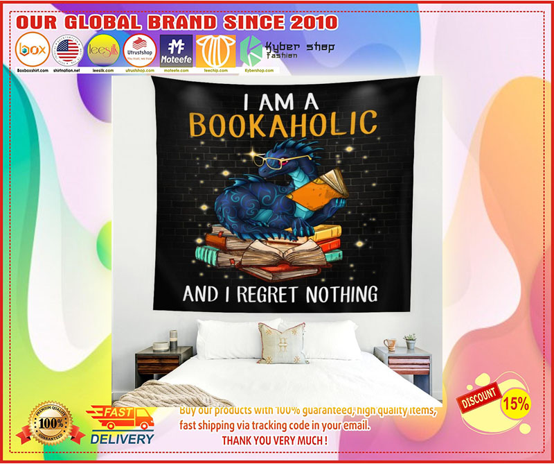 Dragon I am a bookaholic and I regret nothing blanket 4