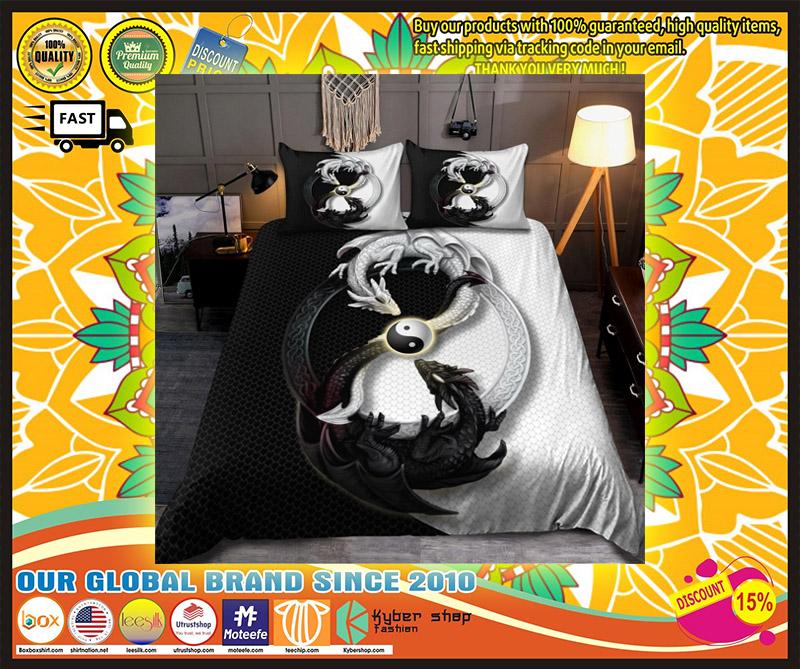 Dragon yin and yang bedding set 1