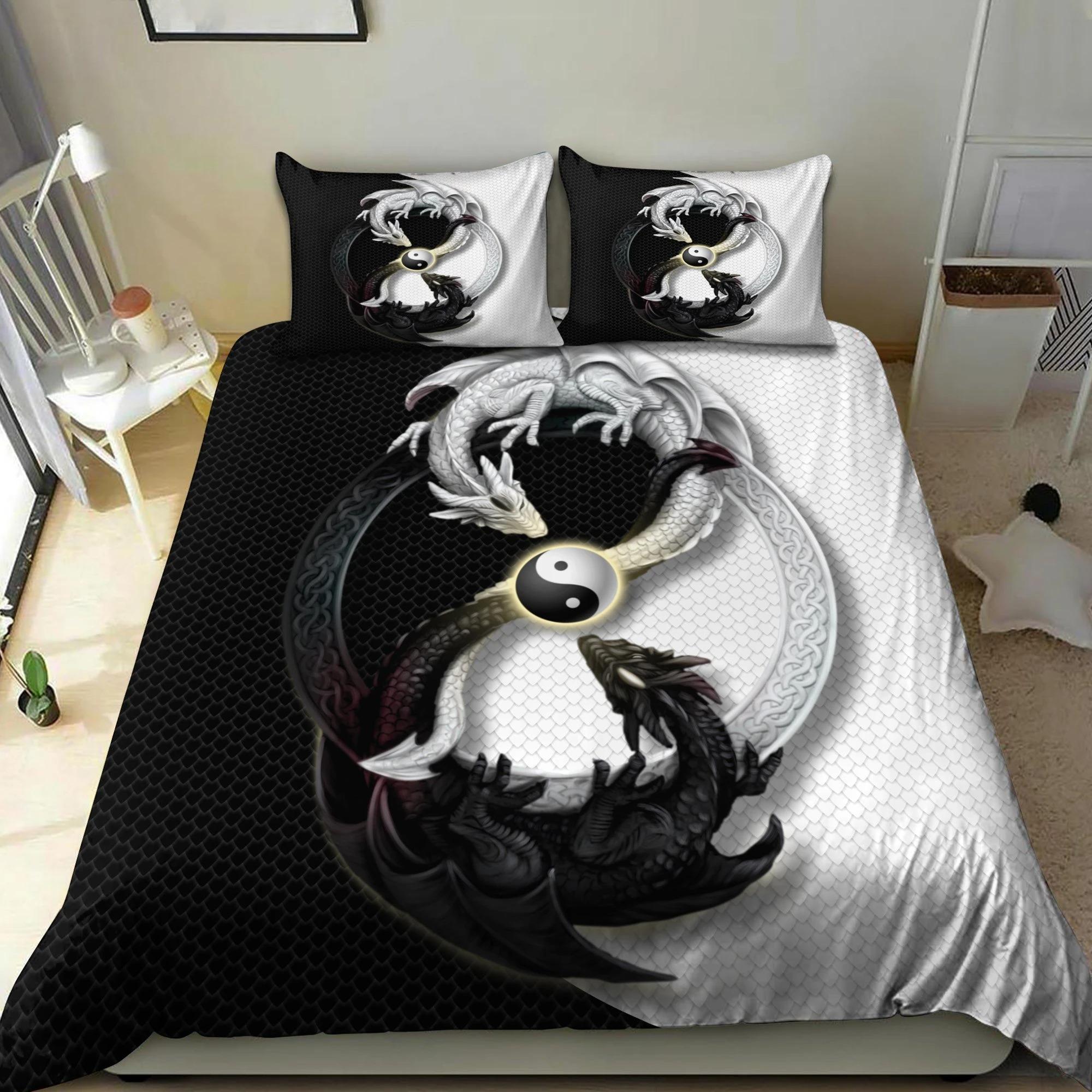 Dragon yin and yang bedding set 3