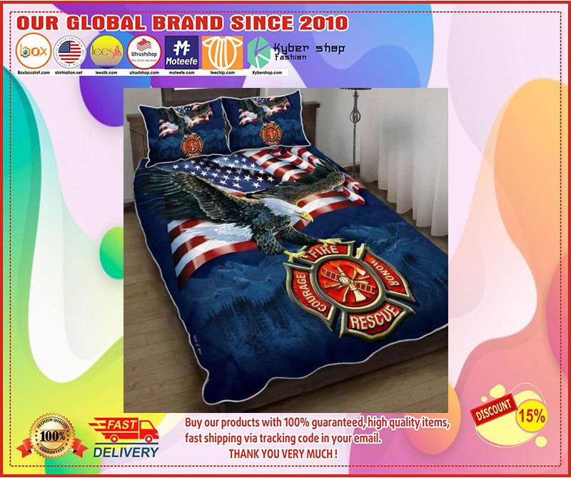 Firefighter American eagle bedding set 1