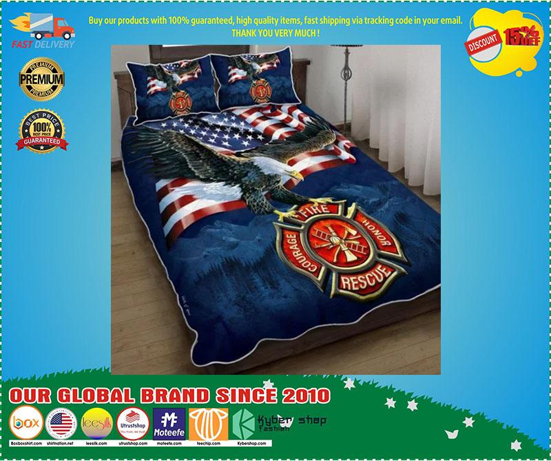 Firefighter American eagle bedding set 3