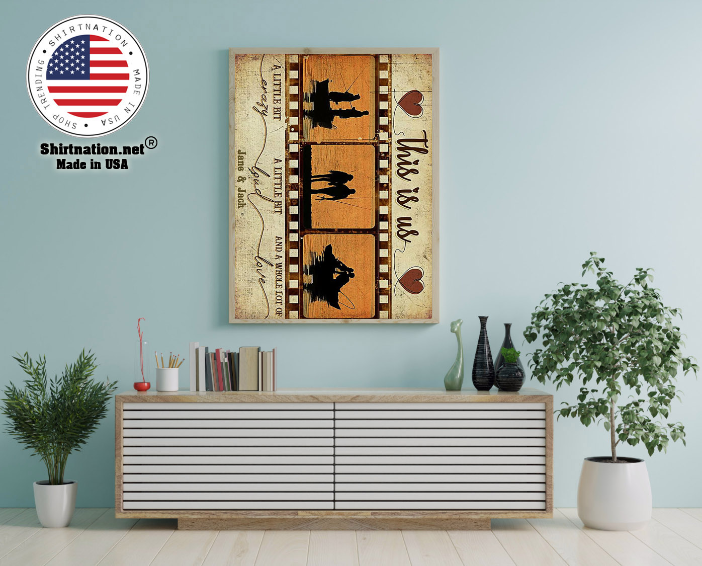Fishing This is us a little bit crazy custom personalized name poster 12