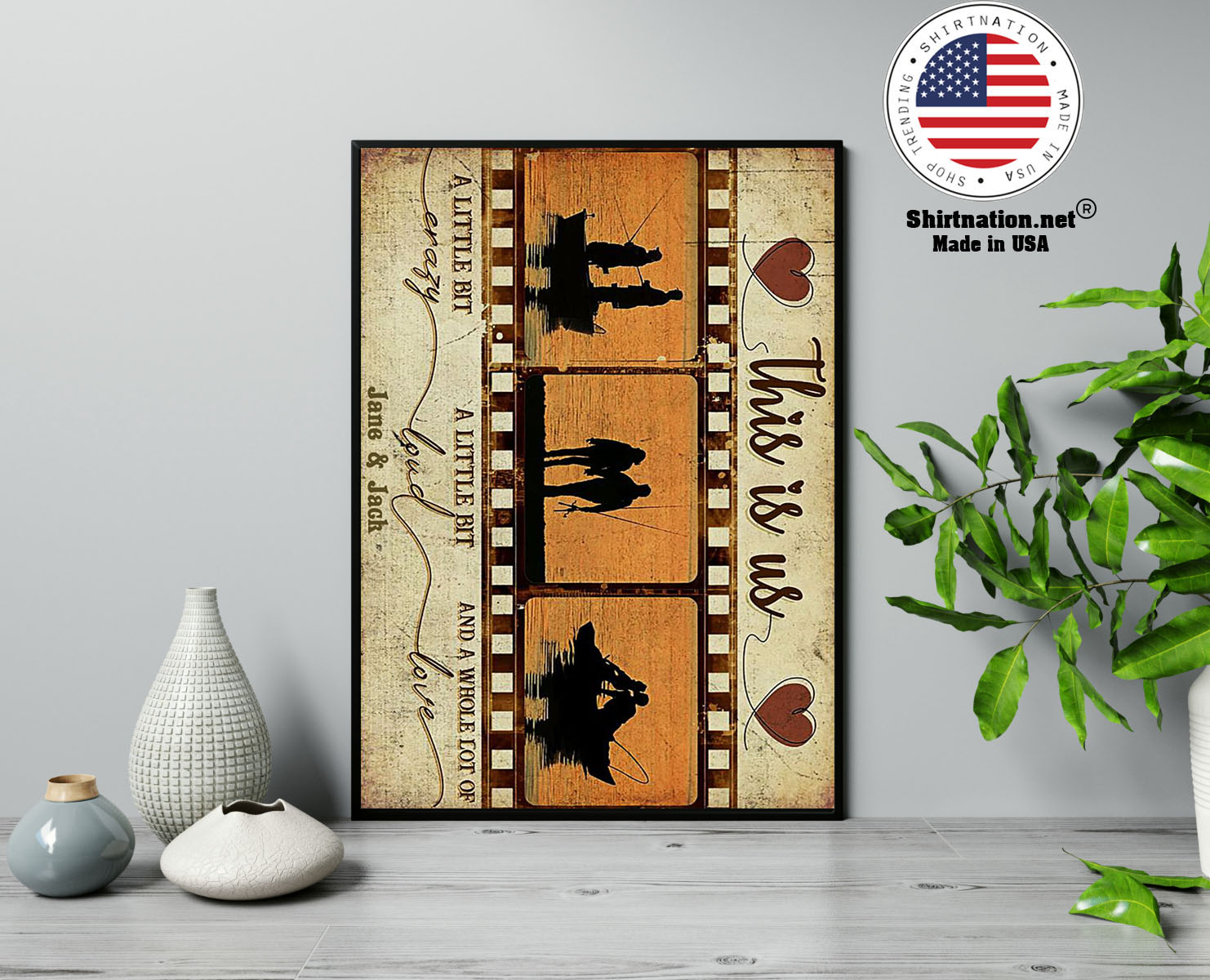 Fishing This is us a little bit crazy custom personalized name poster 13