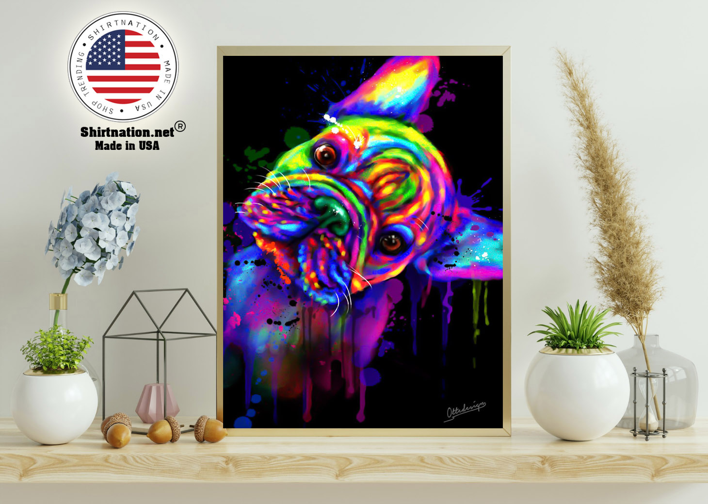 French bulldog water color poster 11