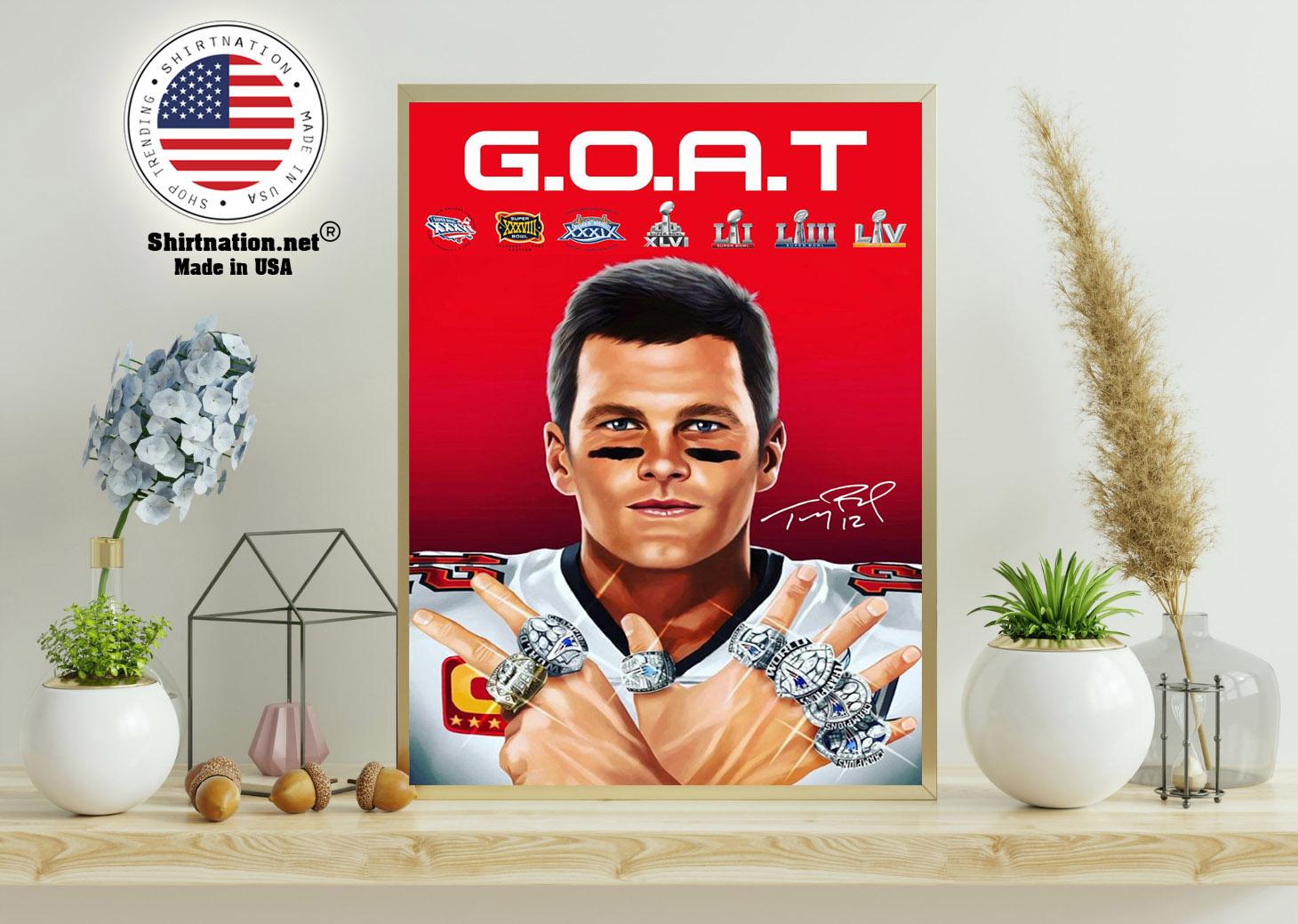 GOAT brady 2021 poster 11