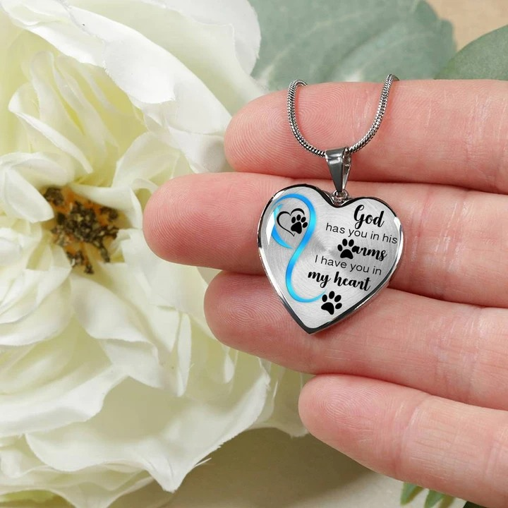 God has you in his arms I have you in my heart necklace 3