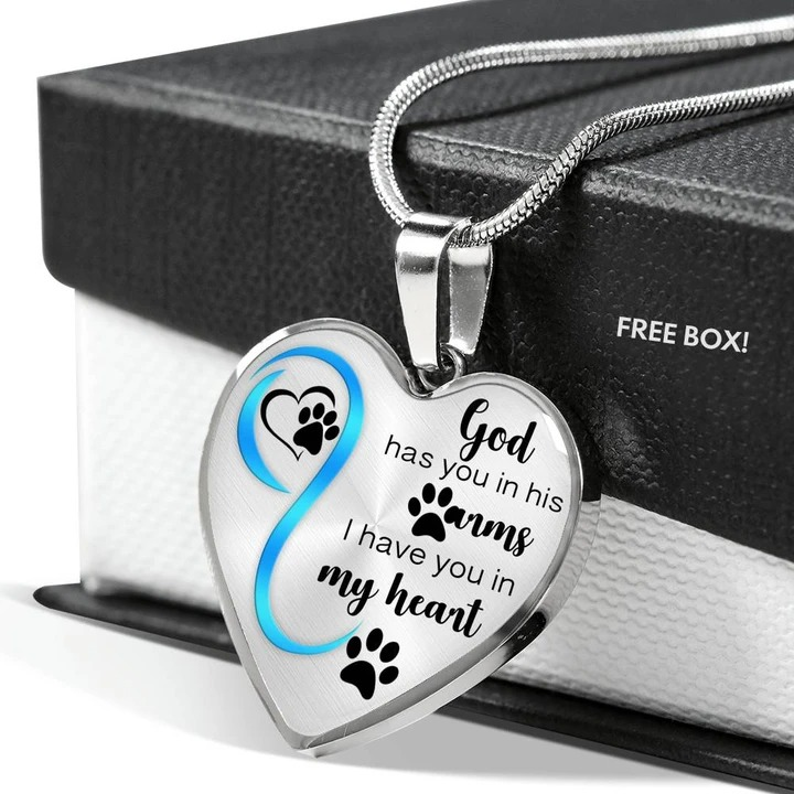 God has you in his arms I have you in my heart necklace 4