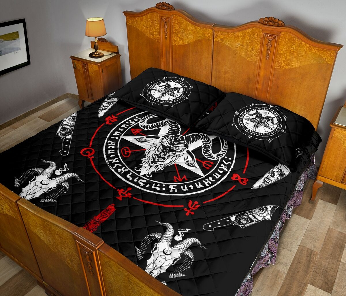 Hail Satan bedding set 3
