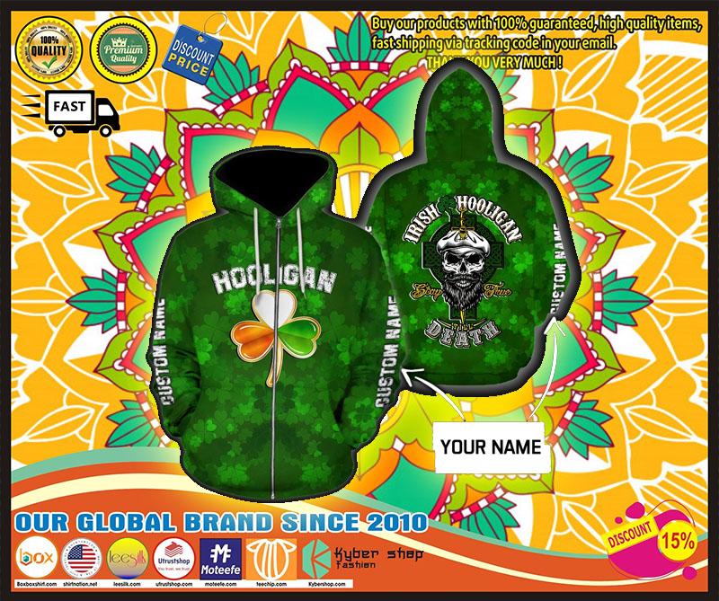 Hooligan Irish custom name 3D hoodie 1