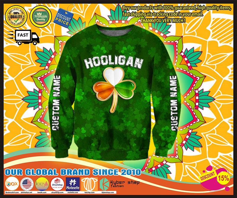 Hooligan Irish custom name 3D hoodie 2