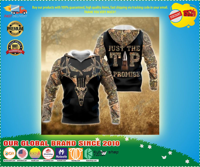 Hunting deer just the tip I promise 3D hoodie 3