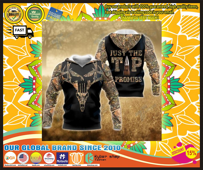 Hunting deer just the tip I promise 3D hoodie 4
