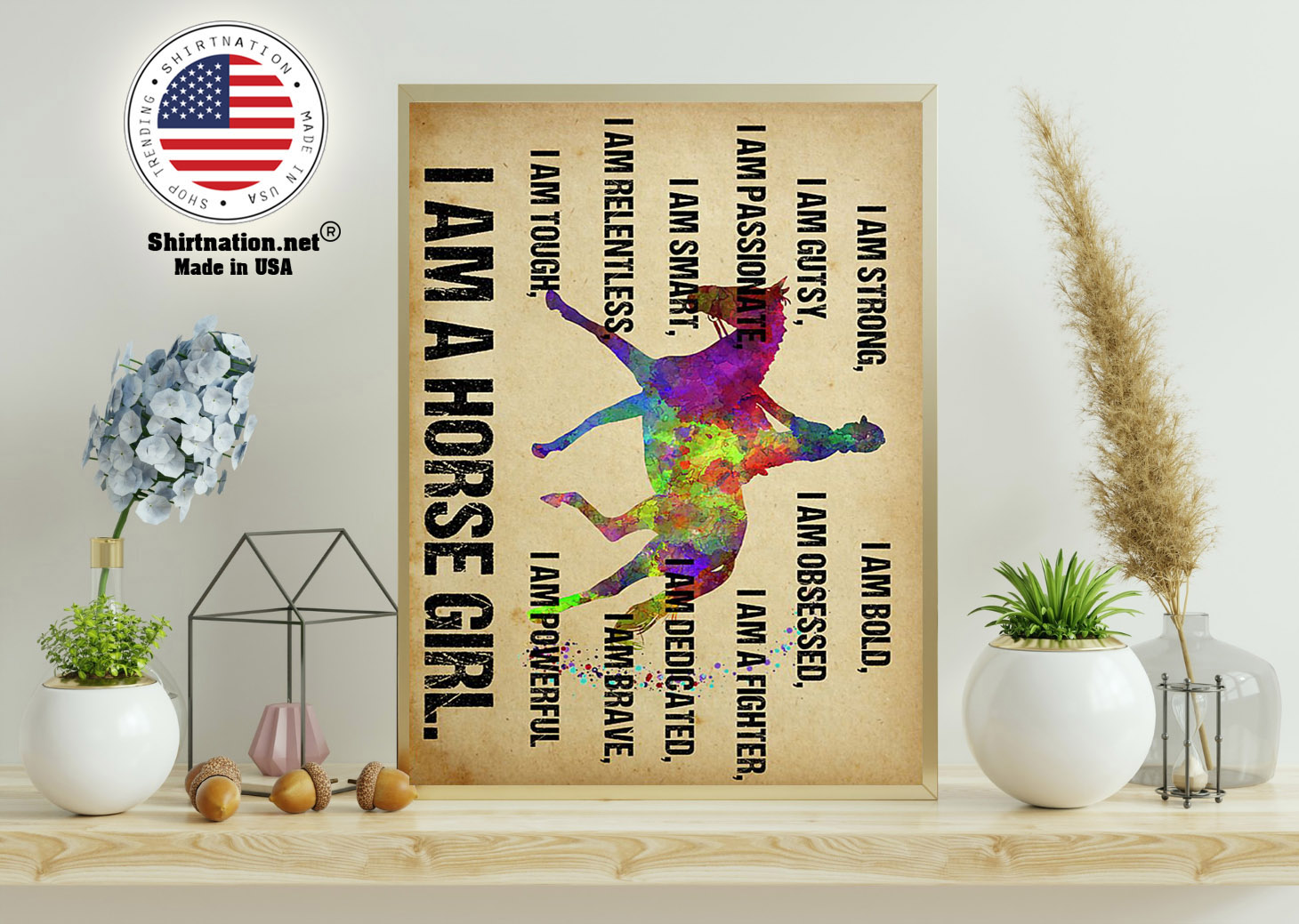 I am strong I am a horse girl poster 11