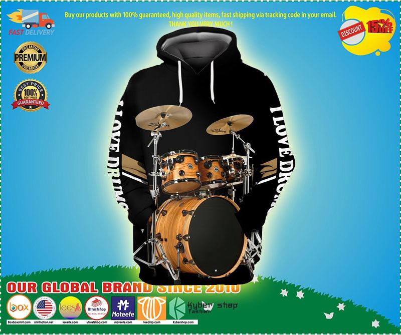 I love Drummer 3D hoodie 1