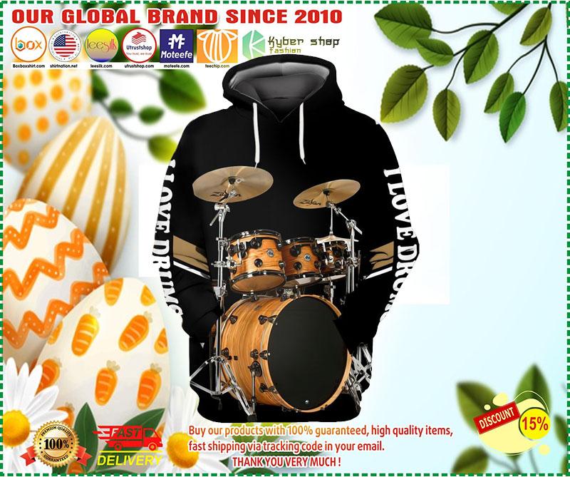I love Drummer 3D hoodie 2