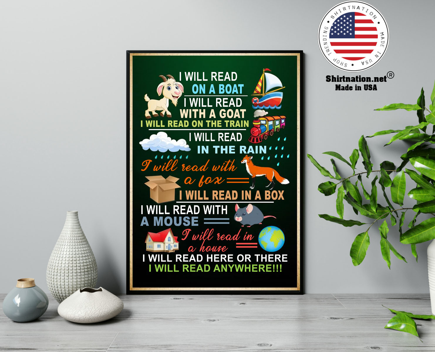 I will read on the boat I will read with the goat in the rain with the fox poster 13