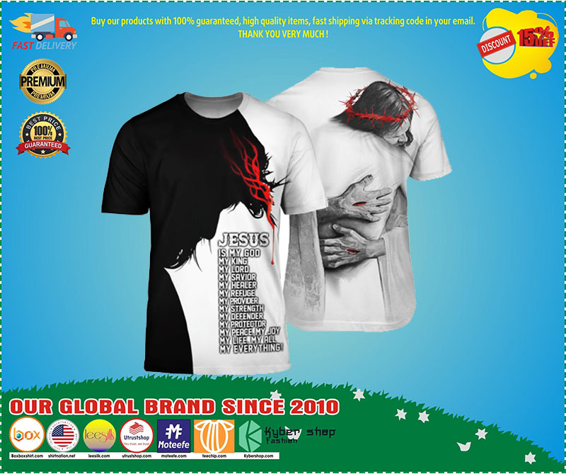 Jesus in the Arm of Lord my everything back 3d shirt 4