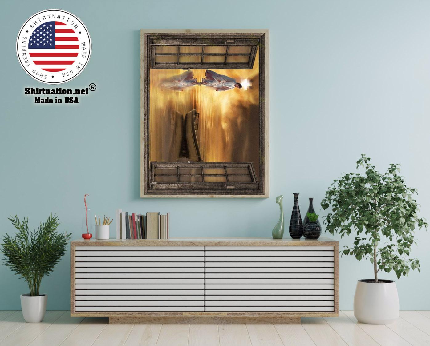 Jesus through the window poster 12