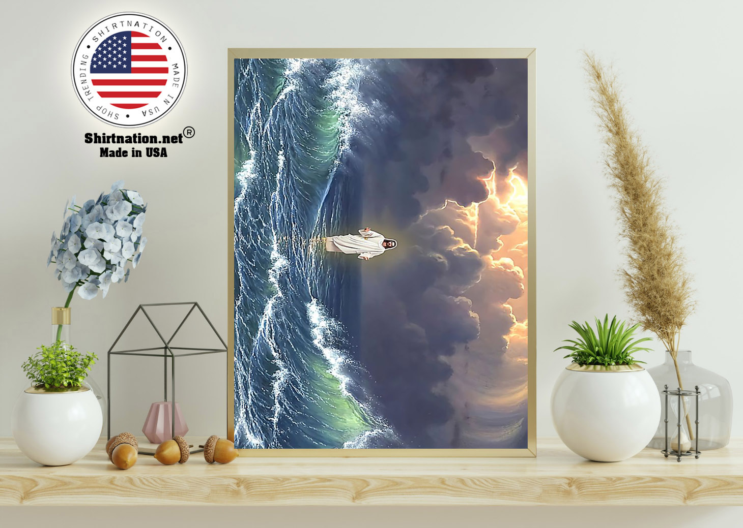 Jesus walking on water poster 11