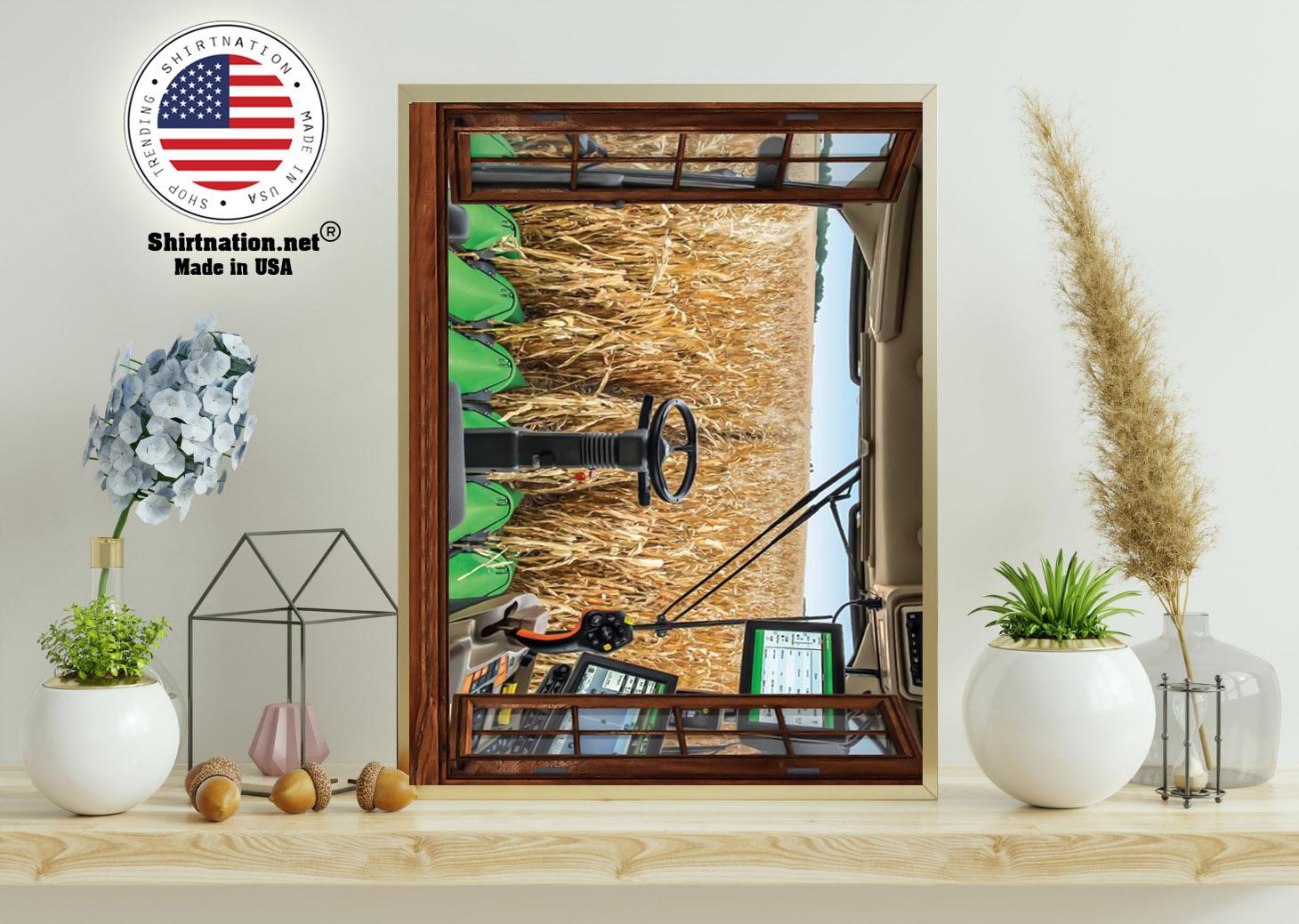 John Deere cabin view poster 11