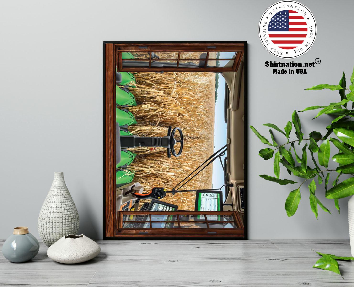 John Deere cabin view poster 13