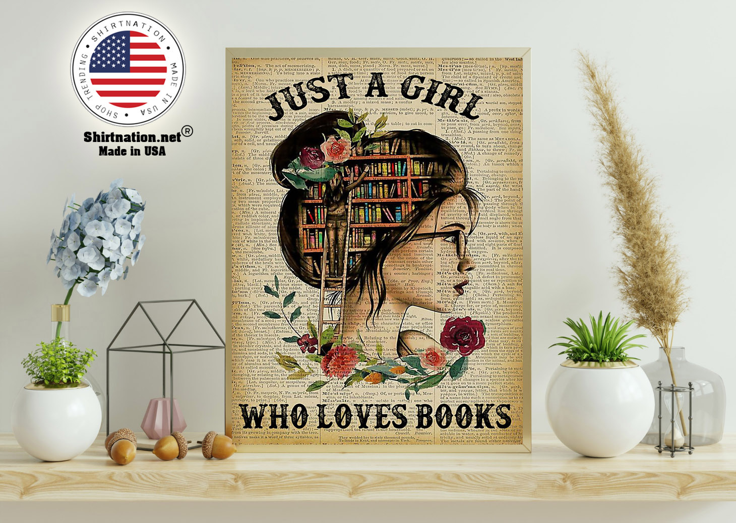 Just a girl who loves books poster 11