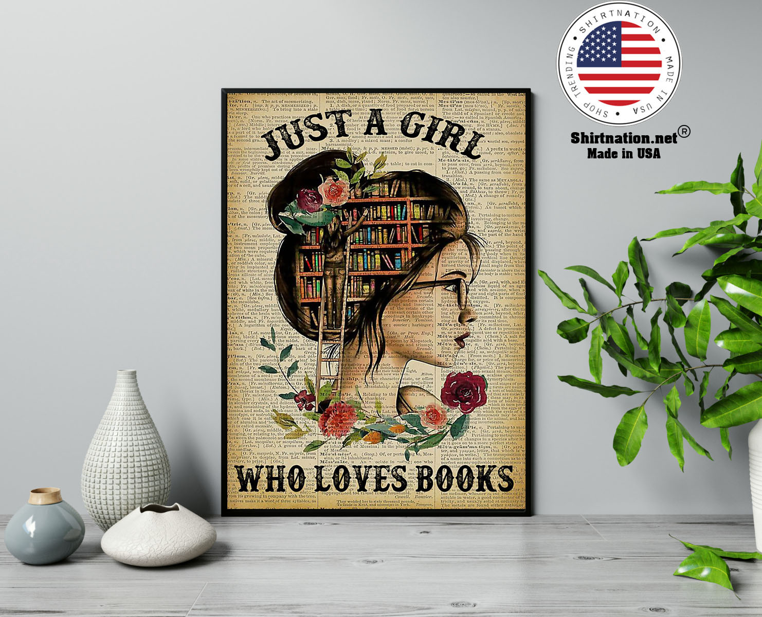 Just a girl who loves books poster 13