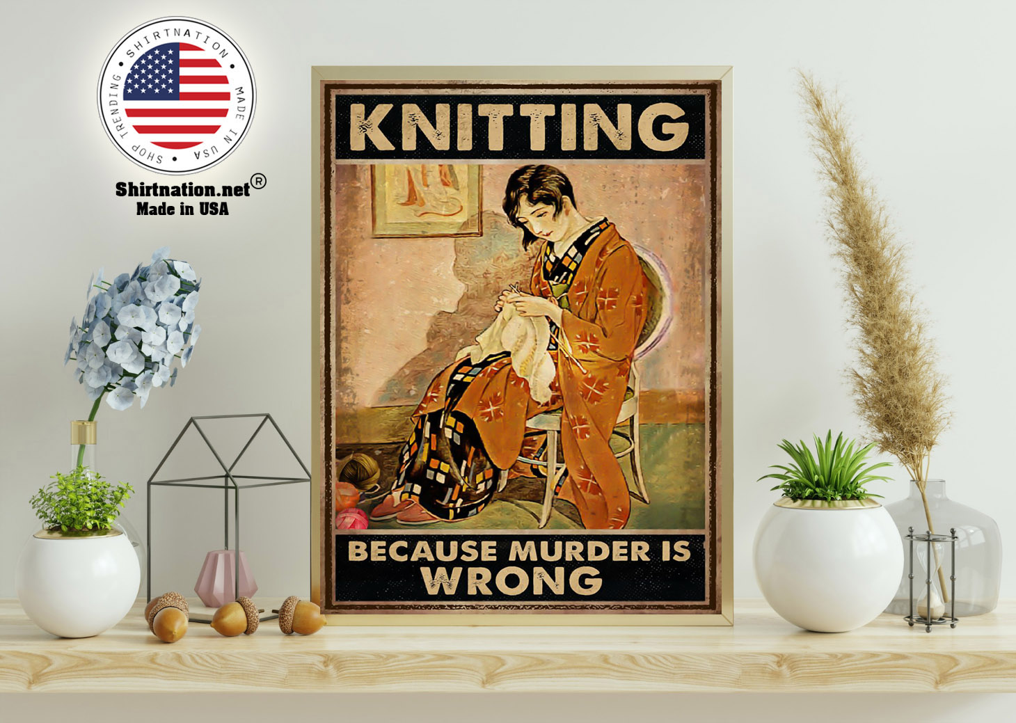 Knitting because murder is wrong poster 11