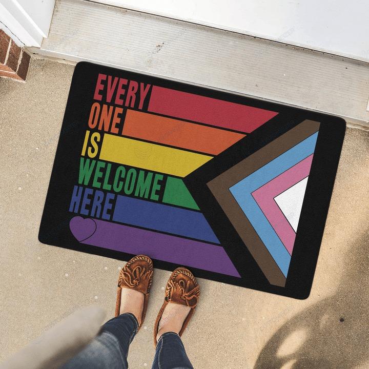 LGBT Everyone is welcome here doormat 2