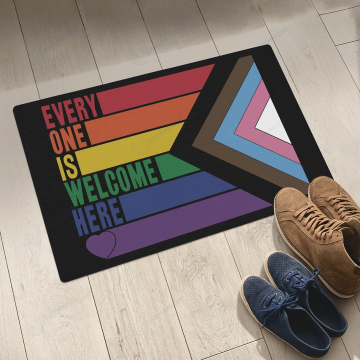 LGBT Everyone is welcome here doormat 3