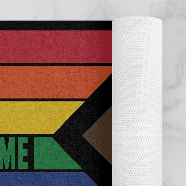 LGBT Everyone is welcome here doormat 4