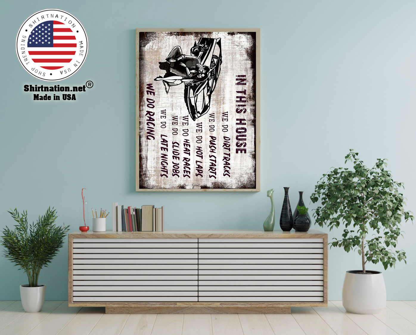 Late model in this house we do dirt tracks poster 12