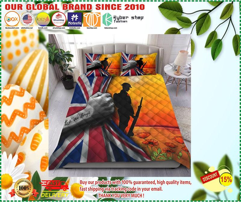 Lest we forget UK veteran bedding set 2
