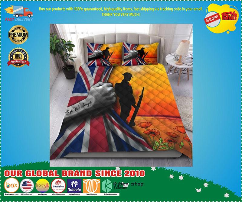 Lest we forget UK veteran bedding set 3