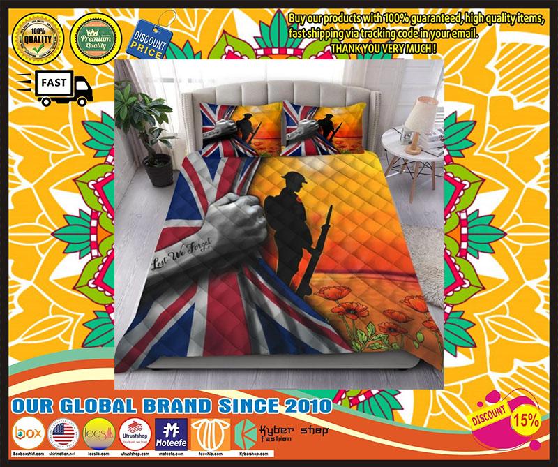 Lest we forget UK veteran bedding set 4