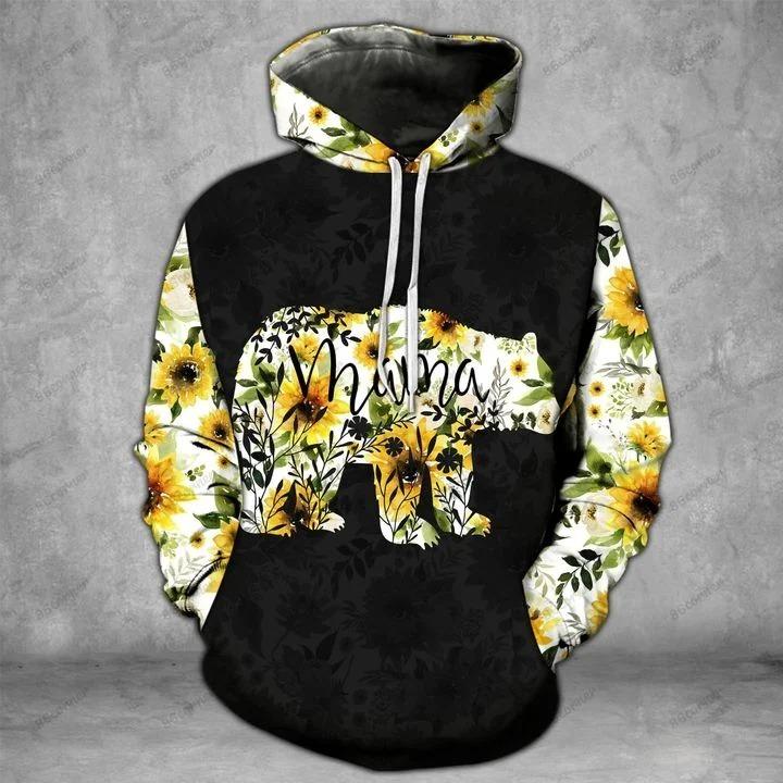 Mama bear Sunflower 3D hoodie and legging 1