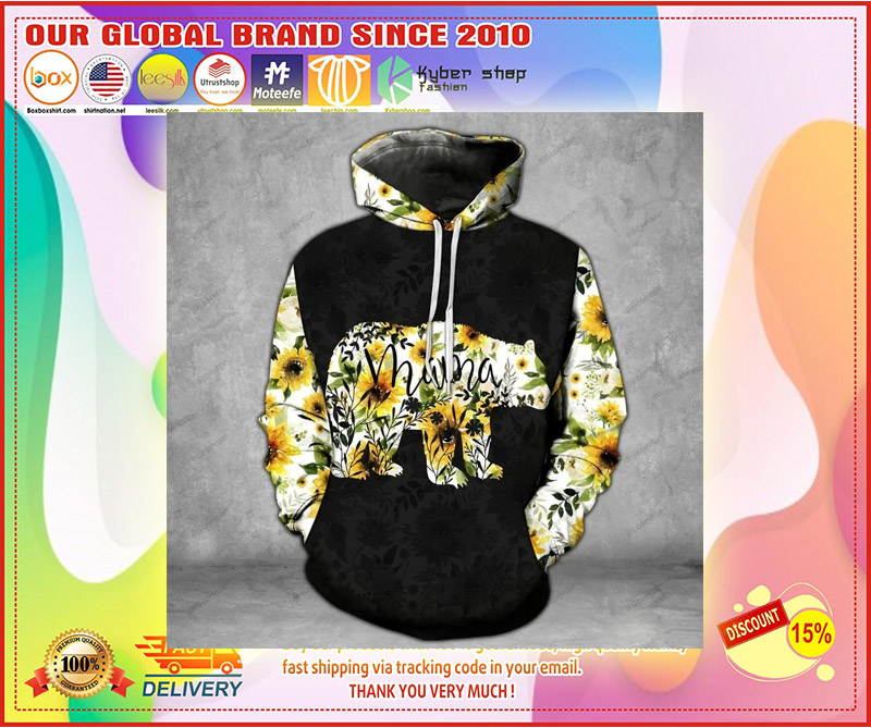 Mama bear Sunflower 3D hoodie and legging 3