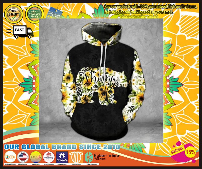 Mama bear Sunflower 3D hoodie and legging 4
