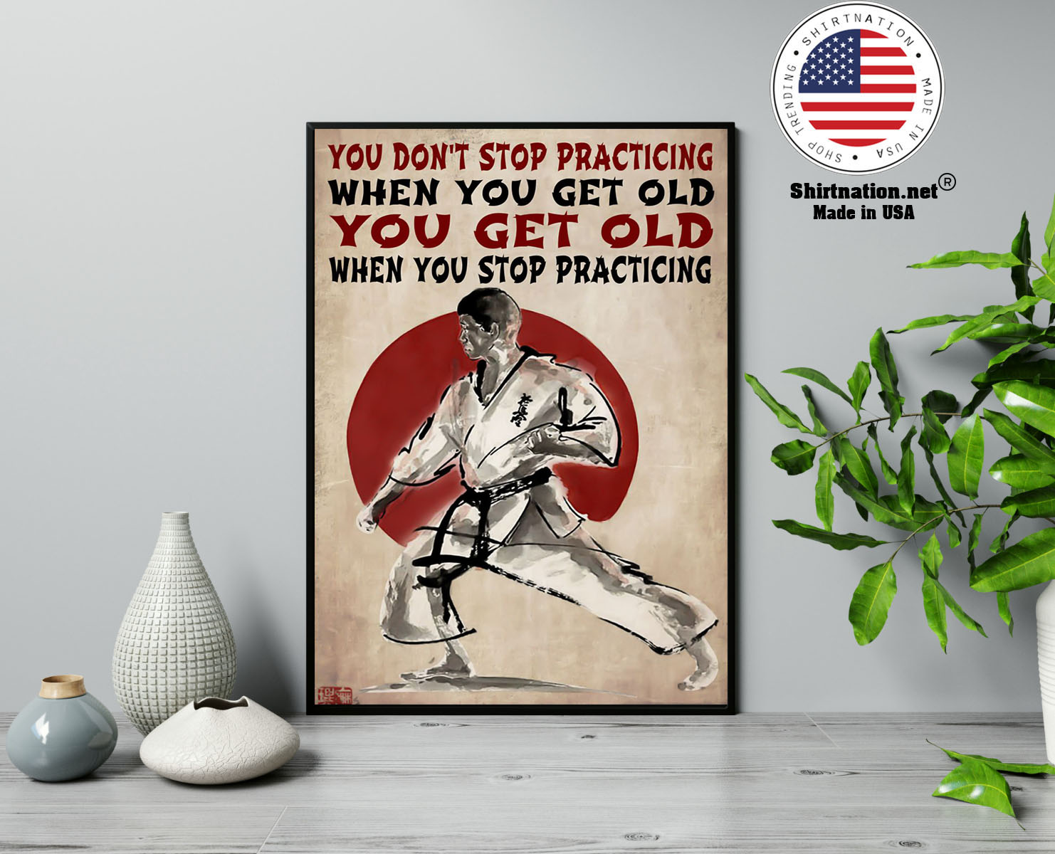 Martial arts You dont stop practicing when you get old poster 13