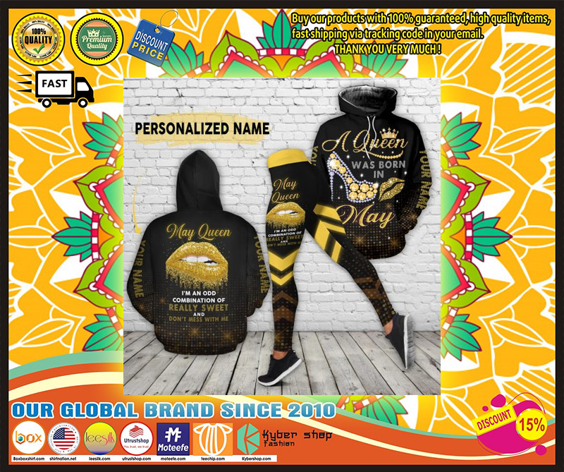 May queen really sweet and dont mess with me custom name 3D hoodie and legging 2