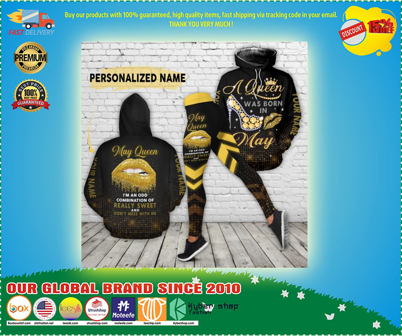 May queen really sweet and dont mess with me custom name 3D hoodie and legging 3