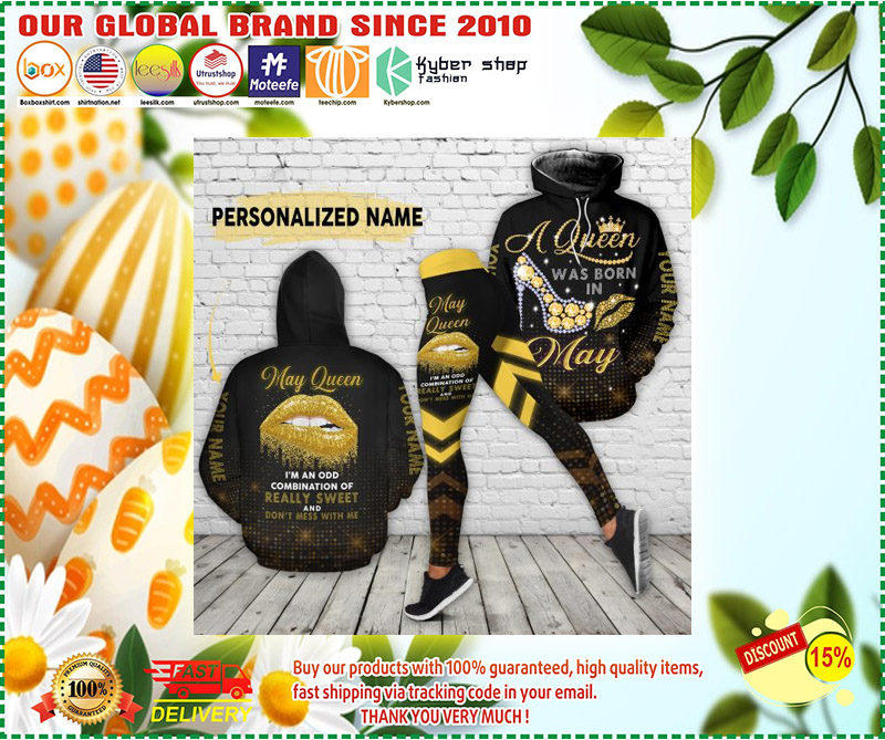 May queen really sweet and dont mess with me custom name 3D hoodie and legging 4