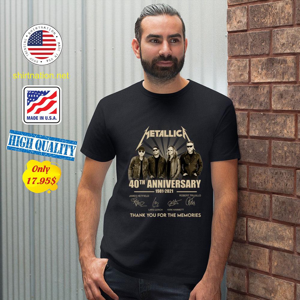 Metallica 40th anniversary 1981 2921 tank you for the memories Shirt2 1
