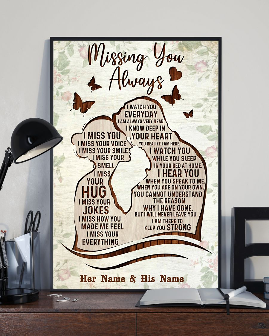 Missing you always custom name poster 2 1
